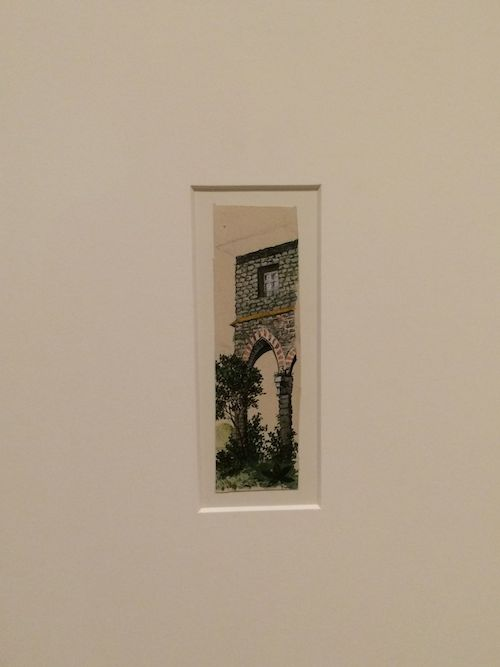 1895, Untitled (Gothic arch and plants) Watercolor and pencil