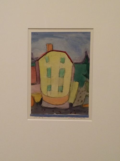 1935, Portrait of a House Watercolor and charcoal