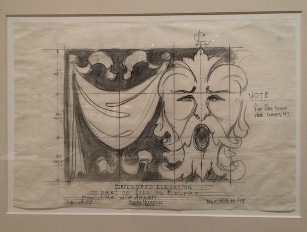 Julia Morgan's elevation drawing