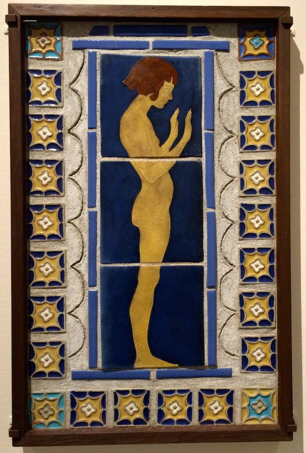 Display Panel 1922-23 Earthenware press molded