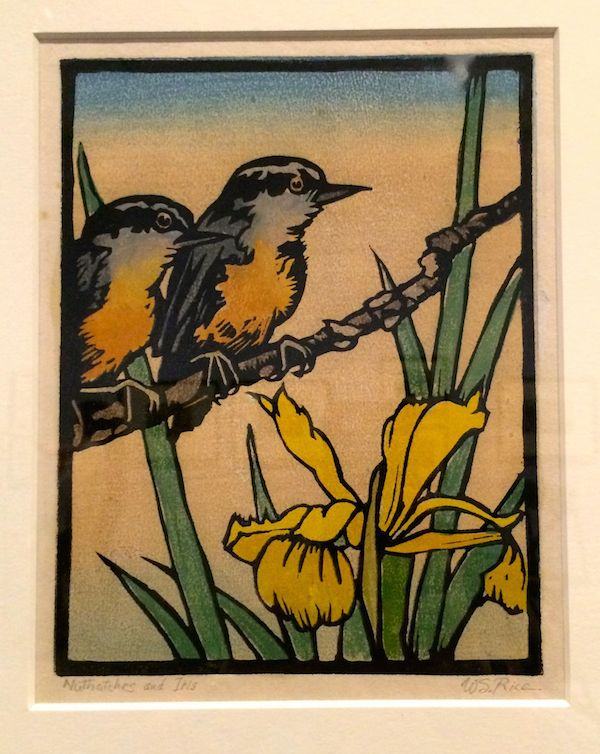 Nuthatches and Iris c.1930
