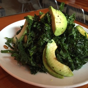Kale salad and pepitos