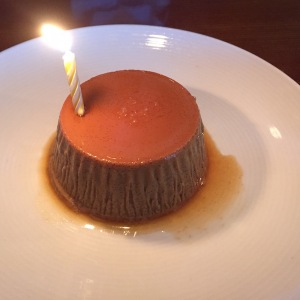Espresso flan with salted caramel